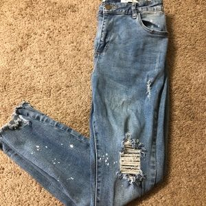 Cotton on ripped jean